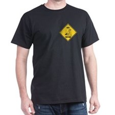 Duck Crossing Sign Dark T-Shirt
