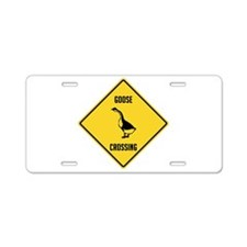 Goose Crossing Sign Aluminum License Plate