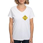Cockatoo Crossing Sign Women's V-Neck T-Shirt