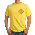 Cockatoo Crossing Sign Yellow T-Shirt