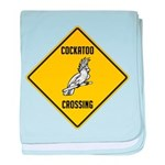 Cockatoo Crossing Sign baby blanket
