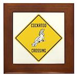 Cockatoo Crossing Sign Framed Tile