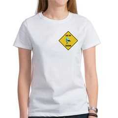 Blue Jay Crossing Sign Women's T-Shirt