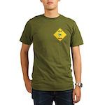 Blue Jay Crossing Sign Organic Men's T-Shirt (dark