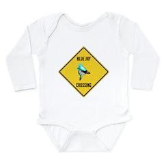Blue Jay Crossing Sign Long Sleeve Infant Bodysuit