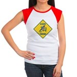 Blue Jay Crossing Sign Women's Cap Sleeve T-Shirt