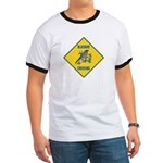 Blue Jay Crossing Sign Ringer T