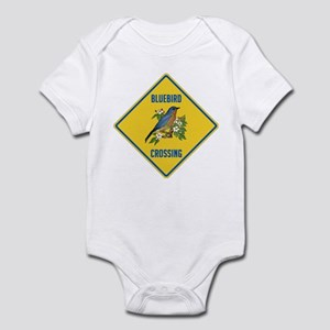 Blue Jay Crossing Sign Infant Bodysuit