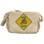 Blue Jay Crossing Sign Messenger Bag
