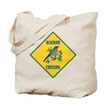 Blue Jay Crossing Sign Tote Bag