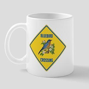 Blue Jay Crossing Sign Mug