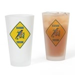 Blue Jay Crossing Sign Drinking Glass