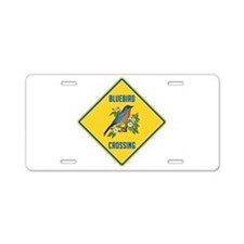 Blue Jay Crossing Sign Aluminum License Plate