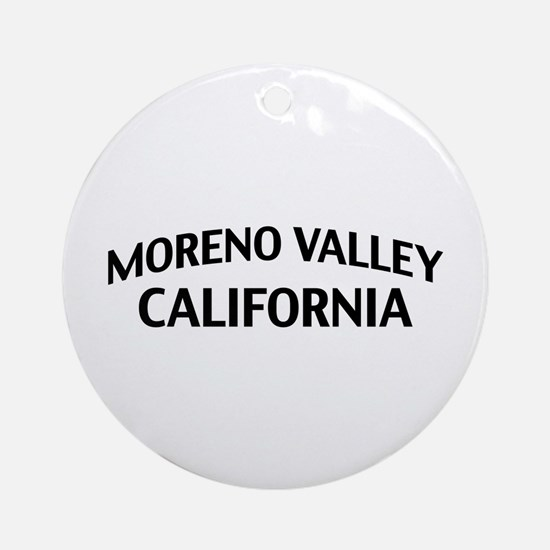 Moreno Valley California Ornament (Round)