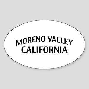 Moreno Valley California Sticker (Oval)