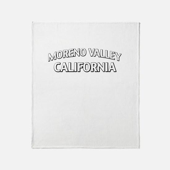 Moreno Valley California Throw Blanket