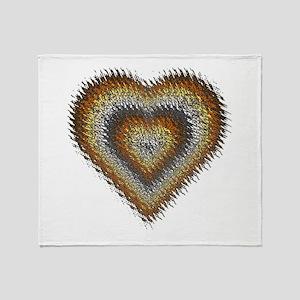 Bear Pride Splash Heart Throw Blanket