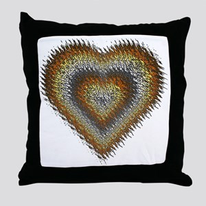 Bear Pride Splash Heart Throw Pillow
