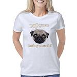 Shug The Scottish Pug Love Women's Classic T-Shirt