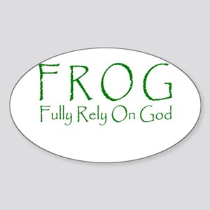 Fully Rely On God Oval Sticker