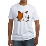 Calico Cat Cartoon Fitted T-Shirt
