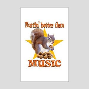 Music Squirrel Mini Poster Print