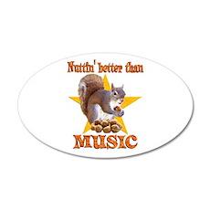 Music Squirrel 22x14 Oval Wall Peel