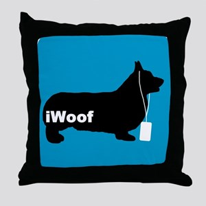iWoof Pembroke Corgi Throw Pillow