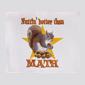 Math Squirrel Throw Blanket