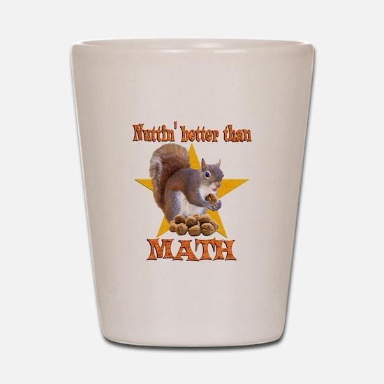 Math Squirrel Shot Glass