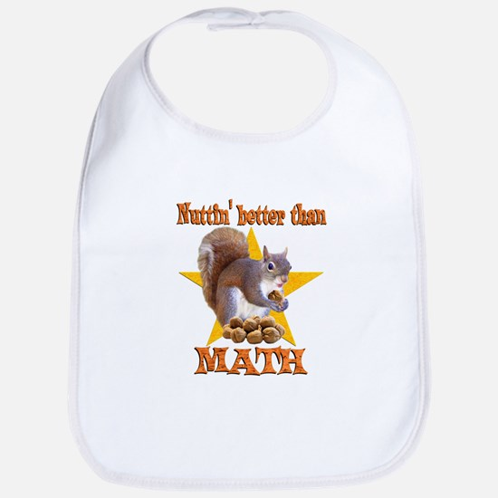 Math Squirrel Bib