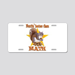 Math Squirrel Aluminum License Plate