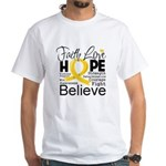 Faith Hope Neuroblastoma White T-Shirt