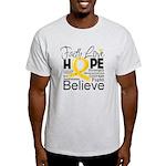 Faith Hope Neuroblastoma Light T-Shirt