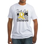 Faith Hope Neuroblastoma Fitted T-Shirt