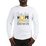Faith Hope Neuroblastoma Long Sleeve T-Shirt