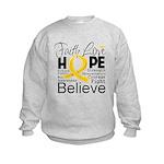 Faith Hope Neuroblastoma Kids Sweatshirt