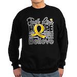 Faith Hope Neuroblastoma Sweatshirt (dark)