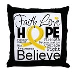 Faith Hope Neuroblastoma Throw Pillow