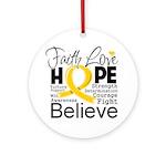 Faith Hope Neuroblastoma Ornament (Round)