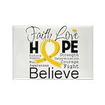 Faith Hope Neuroblastoma Rectangle Magnet