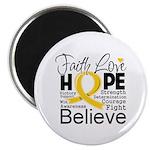 Faith Hope Neuroblastoma Magnet
