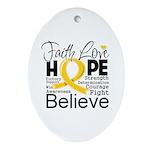 Faith Hope Neuroblastoma Ornament (Oval)