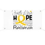 Faith Hope Neuroblastoma Banner