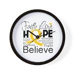 Faith Hope Neuroblastoma Wall Clock
