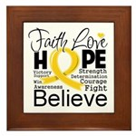 Faith Hope Neuroblastoma Framed Tile