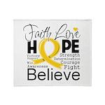 Faith Hope Neuroblastoma Throw Blanket