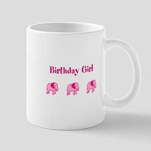 Birthday Girl Three Pink Elep Mug