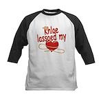 Khloe Lassoed My Heart Kids Baseball Jersey