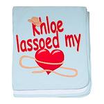 Khloe Lassoed My Heart baby blanket
